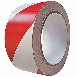 Marking Tape,Roll,2InW,108 ft.,Red/White