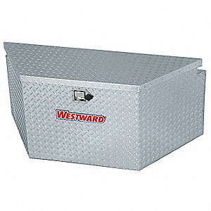 Aluminum Trailer Tongue Box, Silver, Single, 4.5 cu. ft.