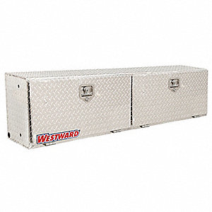 Aluminum Topside Truck Box, Silver, Double, 8.5 cu. ft.