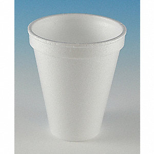 8 oz. Disposable Cold/Hot Cup, Foam, White, PK 1000