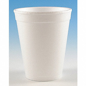 10 oz. Disposable Cold/Hot Cup, Foam, White, PK 1000