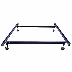 King Bed Frame, Brown Recycled Railroad Steel, Height 7-1/2""