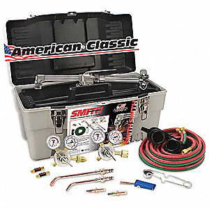 Medium Duty Toolbox Outfit, MC509, 30-100-540 Oxygen, 30-15-300 Fuel, Acetylene Fuel, WH100 Torch Ha