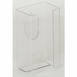"Glove Dispenser, Clear, Plastic, Holds: (1) Box, 5-1/2"" Width"