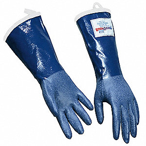 Steam Resistant Gloves, Rubber, 225°F Max. Temp., Men's L, PR 1