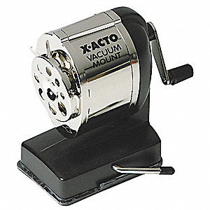 Pencil Sharpener,Manual,Black/Chrome