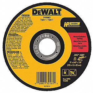 Dewalt 5 Quot Type 1 Aluminum Oxide Abrasive Cut Off Wheel 7