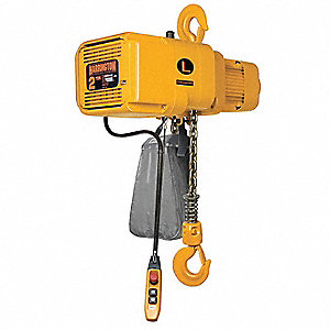10,000 lb. Capacity Electric Chain Hoist, H4 Classification, 15 ft. Lift, 460 Voltage