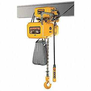 1000 lb. Capacity Electric Chain Hoist, H4 Classification, 10 ft. Lift, 230/460 Voltage