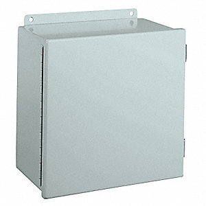 "Carbon Steel Junction Box Enclosure, 8.00"" Height, 6.00"" Width, 6.00"" Depth"