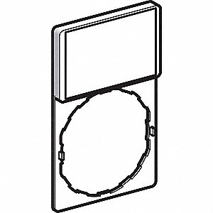 SCHNEIDER ELECTRIC 22mm Rectangular Blank Legend Plate