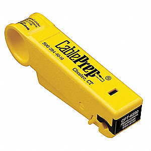 "Cable Stripper,5"" Overall Length,1/4"" Capacity,RG6/59 Cable Type"