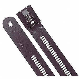 Cable Tie,Standard,12 in.,Black,PK10
