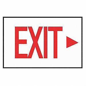 Exit Sign Decal,NWP Series,Arrow Right