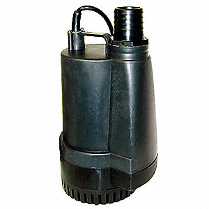 "1/2 HP Utility Pump, 115 Voltage, Discharge NPT: 2"", 9 ft. Cord Length"