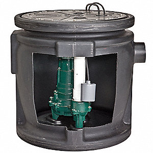 Sewage System, 1/2HP, Piggy-Back Switch