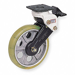 Swivel Plate Shock-Absorbing Caster,Gray