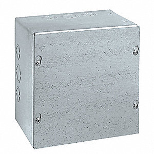 "Steel Junction Box Enclosure, 12.00"" Height, 12.00"" Width, 6.00"" Depth"
