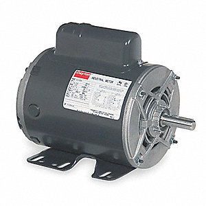 1 HP General Purpose Motor,Capacitor-Start,1725 Nameplate RPM,Voltage 115/208-230,Frame 56H