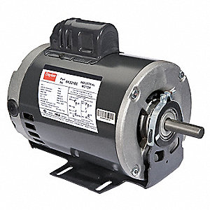 1-1/2 HP General Purpose Motor,Capacitor-Start,1725 Nameplate RPM,Voltage 115/230,Frame 56