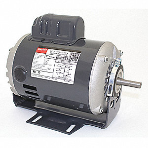 1/2 HP Belt Drive Motor, Capacitor-Start, 1725 Nameplate RPM, 115/230 Voltage, Frame 48Z