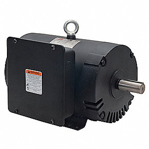3 HP Air Compressor Motor,Capacitor-Start/Run,1740 Nameplate RPM,230 Voltage,Frame 184T