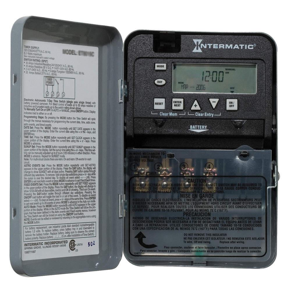 Intermatic ET1725CR Elect Timer, 7Day, NEMA3R, 30A, 2Ch, Steel at Sears.com