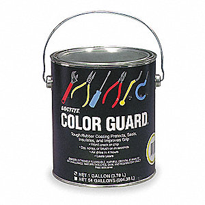 Rubber Protectant Color Guard,Red,1 gal.