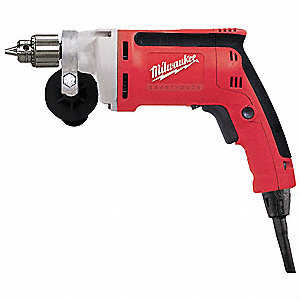 "1/4"" Electric Drill, 7 Amps, Pistol Grip Handle Style, 0 to 2500 No Load RPM, Voltage 120"