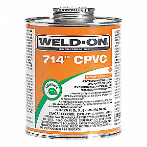 Pipe Cement,Orange,16 Oz.,CPVC
