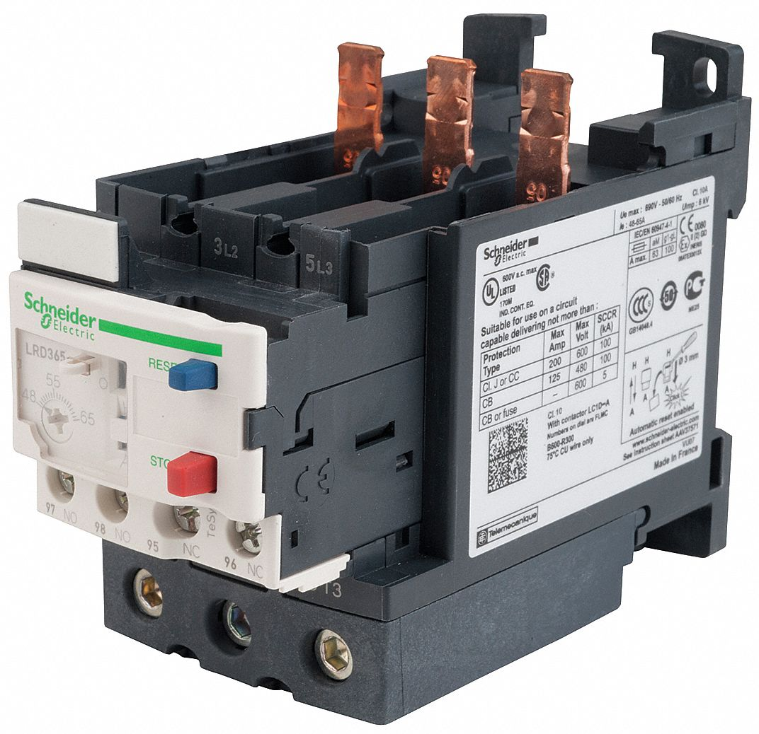 schneider electric overload relay 48 to 65a class 10 3p. Black Bedroom Furniture Sets. Home Design Ideas