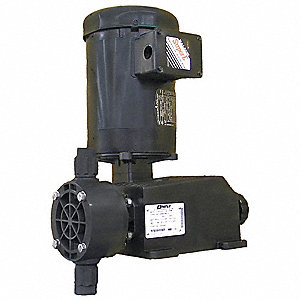 Diaphram Chemical Metering Pump, Max. Flow Rate: 30 gph, Max. Pressure: 75 psi