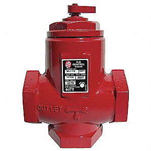 Flo-Control Valve,1 In,FNPT,Cast Iron