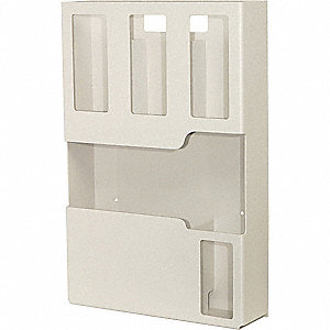 Infection Prevention Station, Number of Compartments 5, Clear ABS Plastic