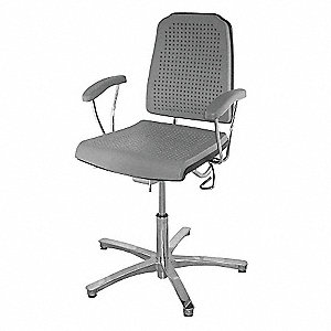 "Aklaim Gray Task Chair, 17 to 24"" Seat Height Range, 300 lb. Weight Capacity"