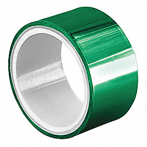 "Green Polyester Metalized Polyester Film Tape, 1"" Width, 5 yd. Length, 2 mil Thickness"