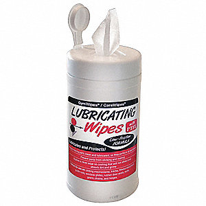 "Lubricating Wipes, 7 x 8"", 160 Wipes per Container, 1 EA"