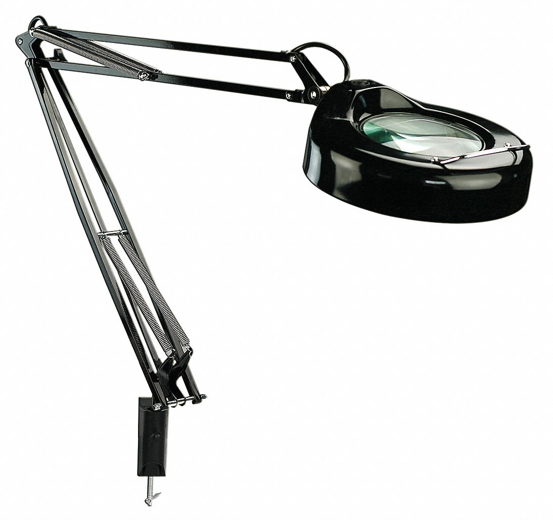 lumapro round magnifier light  fluorescent  53 u0026quot  arm length