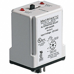Alternating Relay, 10 Amps, 120VAC, 8 Pins, SPDT