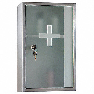 "Lockable 9-7/8""H x 15-3/4""W Medicine Cabinet"