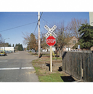 Sign Post Rflctor,Plastic,White,60 In. L