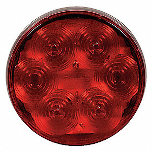 Stop/Tail/Turn Light,LED,Red,4-1/4 Dia