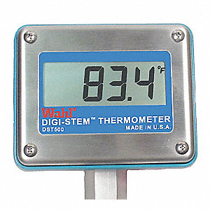 Digital Process Thermometer, RTD Sensor Type, -328° to 1472° Temp. Range (F)