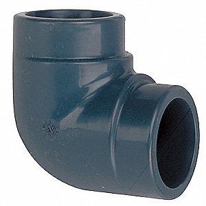 "CPVC Elbow, 90°, 1-1/2"" Pipe Size, Socket x Socket Connection Type"