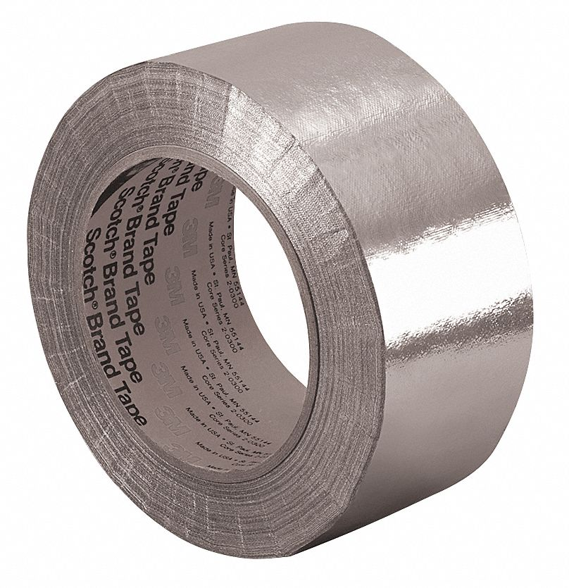 3m Glazing Tape : M aluminum glass foil tape silicone mil thick