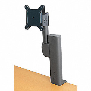 Black Monitor Arm, Column Mount, 25 lb. Weight Capacity