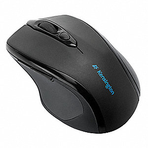 Wireless Mouse, Optical, Black, USB