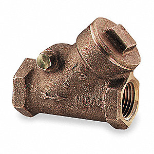 "1/2"" Swing Y Check Valve, Bronze, FNPT Connection Type"