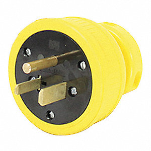 Dust Tight Straight Blade Plug, 50 Amps, 250VAC Voltage, NEMA Configuration: 6-50P, Number of Poles: