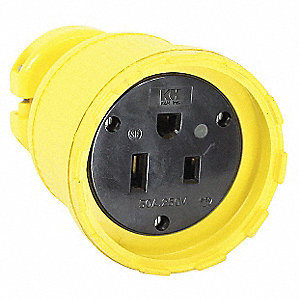 Straight Blade Connector, 50 Amps, 250VAC Voltage, NEMA Configuration: 6-50R